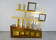Cabinet No. 8, 1994 Yellow-lacquered Maple wood wi...