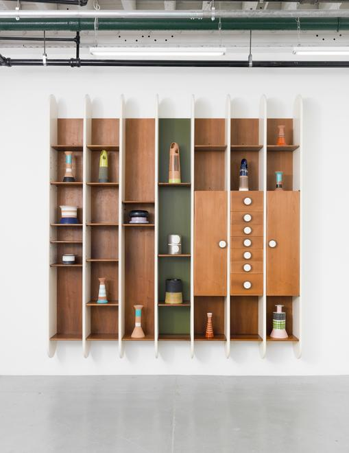 Library, 1965 Lacquered wood and walnut, brass 102...