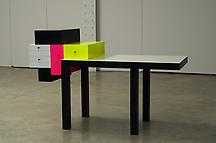 Omaggio 4, 2007 Corian and wood 41 x 64 x 25.25 in...