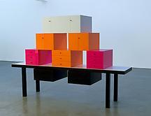 Omaggio 7, 2007 Corian and wood 71 x 105.5 x 25.59...