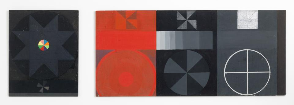 Grande Mandala, 1964-1965 Acrylic on wood 39.37 x...
