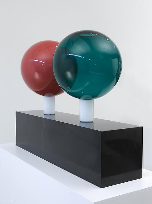"Vase No.19, 1995 Blown glass vases with base in ""n..."
