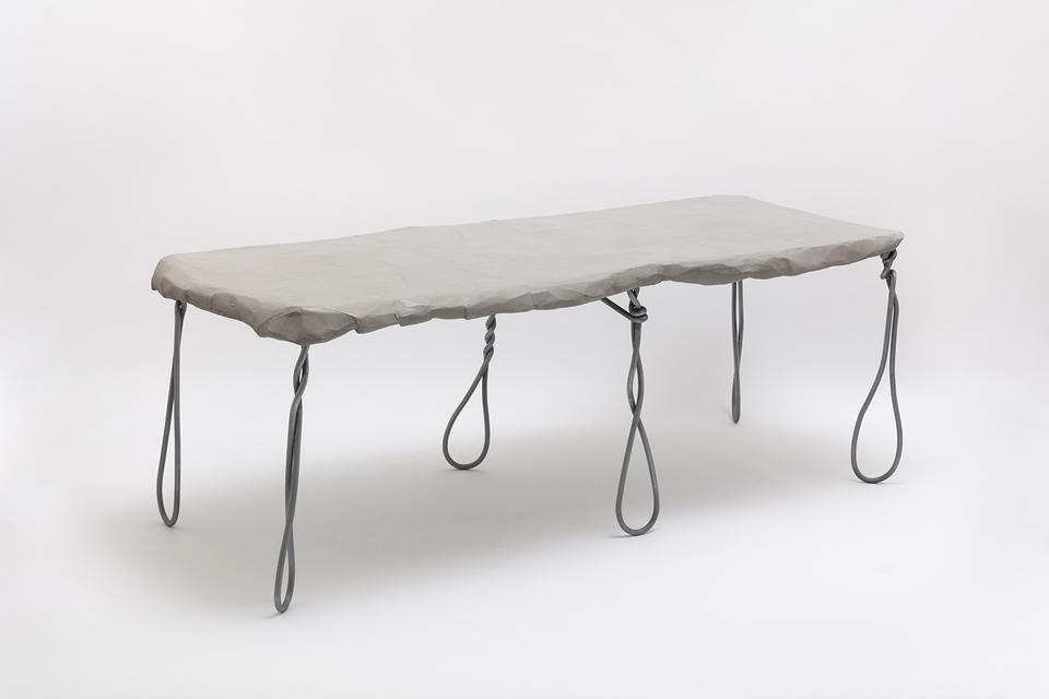 Maquette 243 / Wire & Card Table, 2020 Zinc-coated...