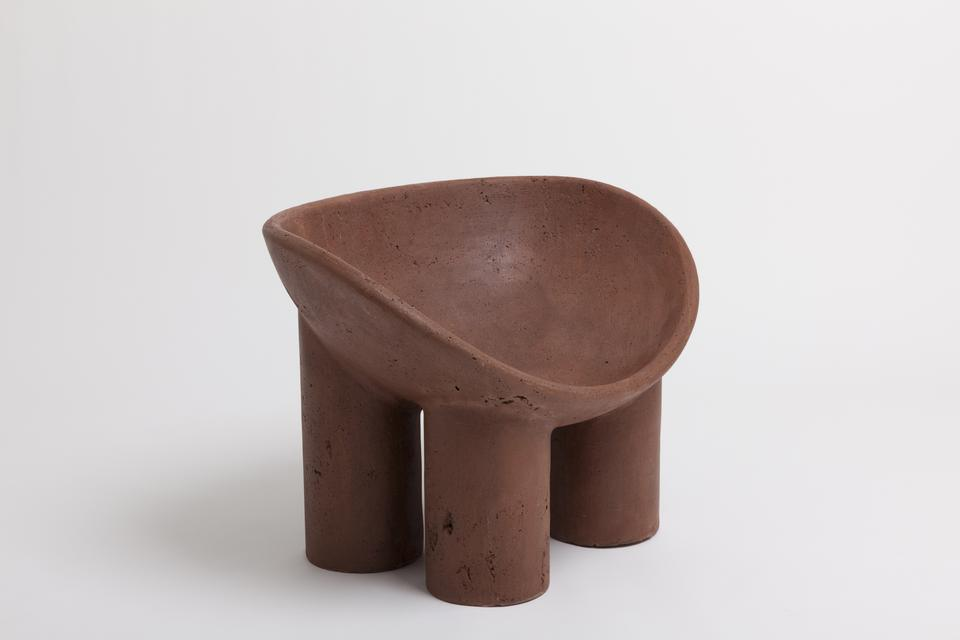 Roly-Poly Chair / Earth, 2016 Cob composite 24 x 3...