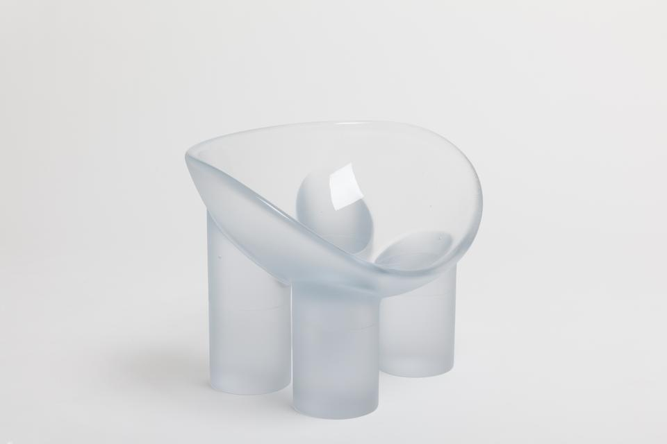Roly-Poly Chair / Water, 2016 Lithium-barium cryst...