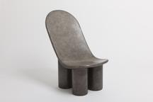 Spoon Chair / Moon, 2016 Sand-cast bronze, silver...