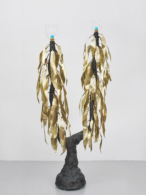 Black Dakota, 2019 Stainless steel, bronze, brass,...