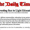 Harvesting Sun to Light Education