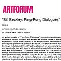 Bill Beckley: Ping-Pong Dialogues