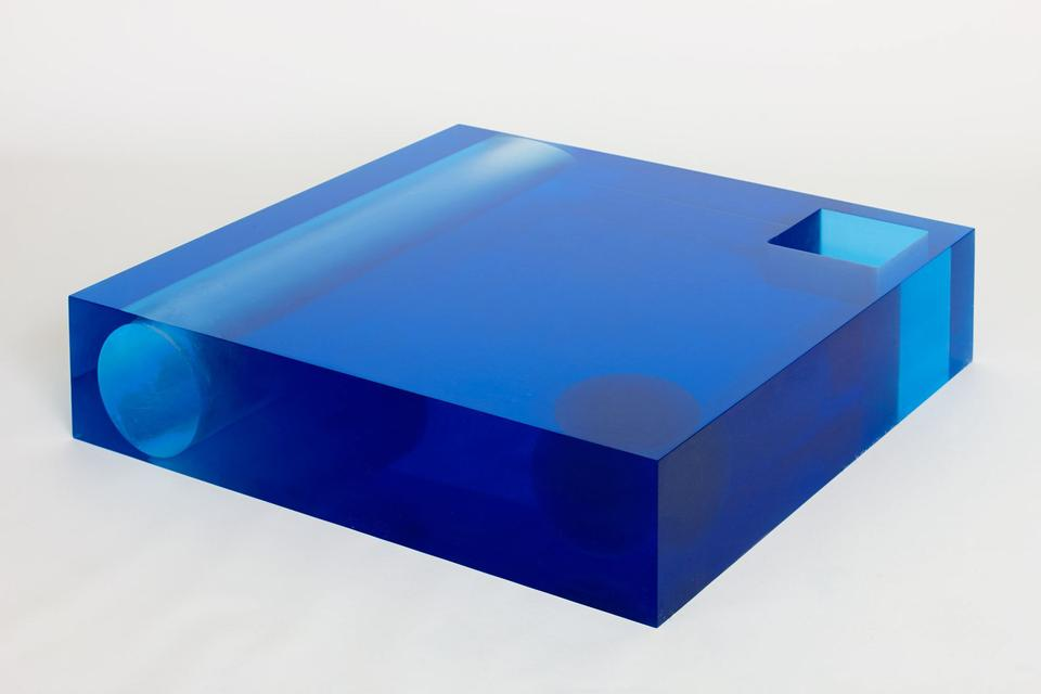 Element Table Resin / Blue, 2011 Crystal resin 7.7...
