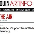 Ai Weiwei Gets Support from Warhol and Rauschenber...