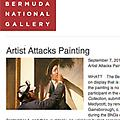 Artist Attacks Painting