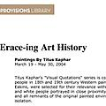 Erace-ing Art History