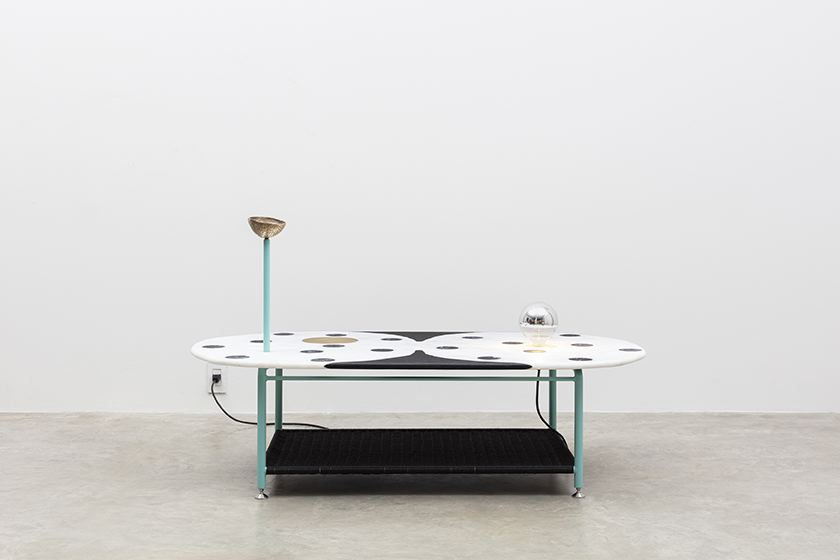 Combination Coconut Table, 2018 Marble, granite, p...