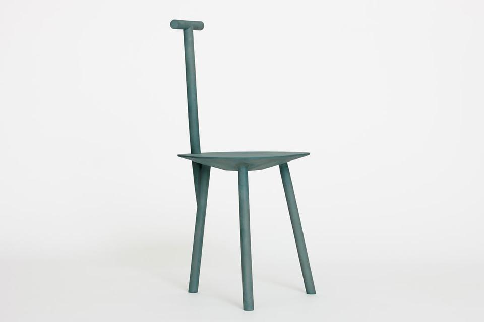 Spade Chair Aluminum / Malachite Sand-cast aluminu...