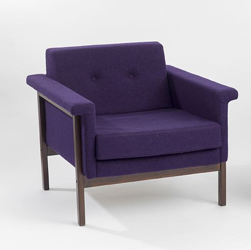 Canada Settee (Armchair), 1959 Walnut and upholste...