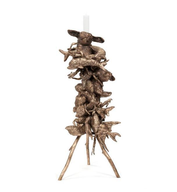 Noah Candleholder, 2017 Cast bronze 49.5 x 21 x 20...