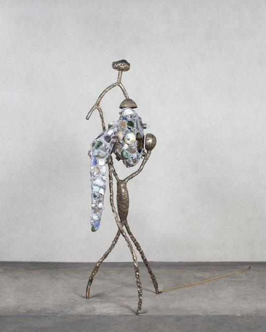 Wanderer 2, 2016 Bronze, mixed media 75 x 25 x 23...