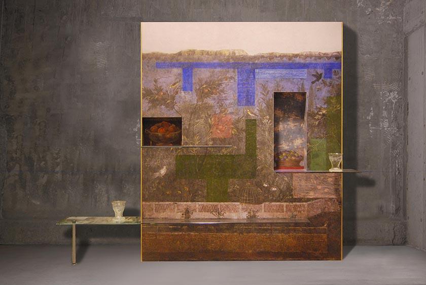 Andrea Branzi [Italian, b. 1938] Wall 3, 2013 Oil...