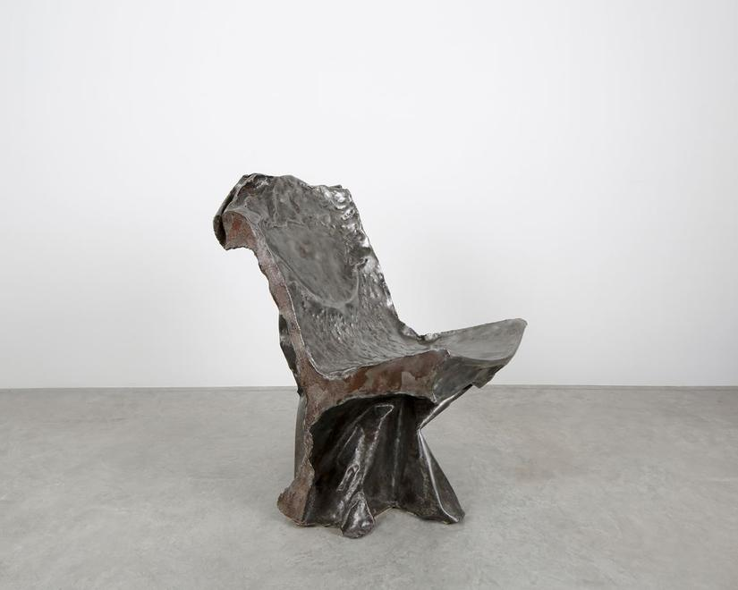 Tinker Chair, 1988 Hammered steel 37.375 x 17.75 x...