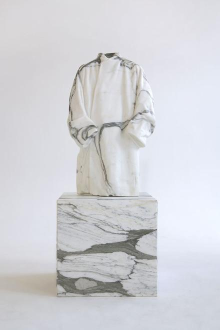 The Stone Mason, 2015 Marble, plywood 66.93 x 23.6...