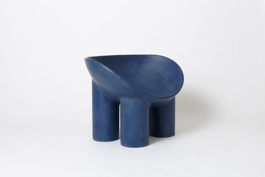 Roly-Poly Chair / Indigo, 2014 Fiberglass 24 x 23....