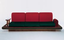 Flying Carpet Couch, 1974 Stained Beechwood, stret...