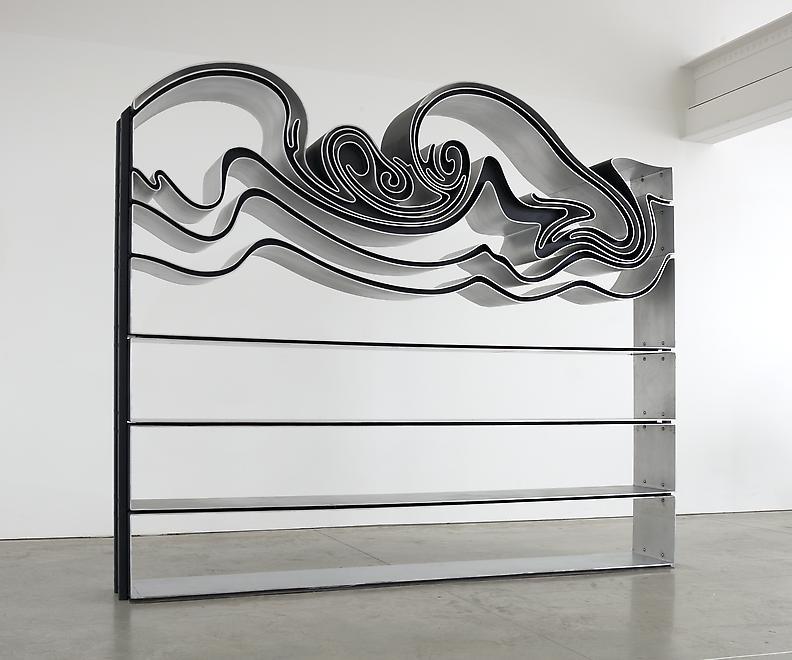 Vortex (Bookcase), 2014 Partially anodized aluminu...