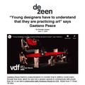 """Young designers have to understand that they are..."