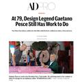 At 79, Design Legend Gaetano Pesce Still Has Work...
