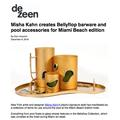Misha Kahn creates Bellyflop barware and pool acce...