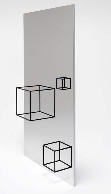 Thin Black Lines (3450mm mirror), 2010 steel 62.99...