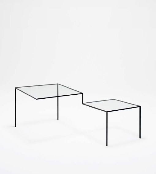 Thin Black Lines (5000mm table), 2010 steel 15.75...