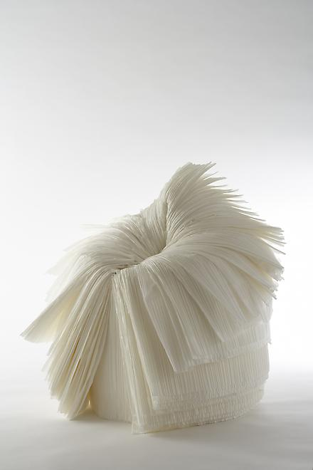 Cabbage Chair, 2008 Pleated paper 28 x 26 x 30 inc...