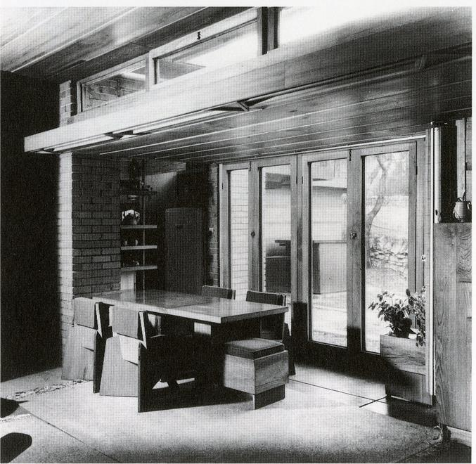 """The Usonian house, then, aims to be a natur..."